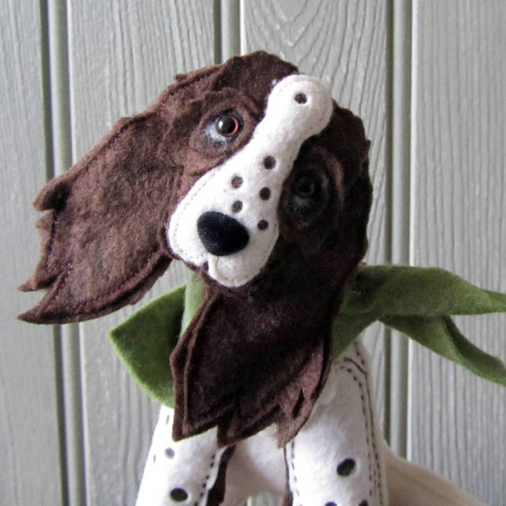 customised-spaniel-felt-dog-sculpture-perfectcockerspaniel
