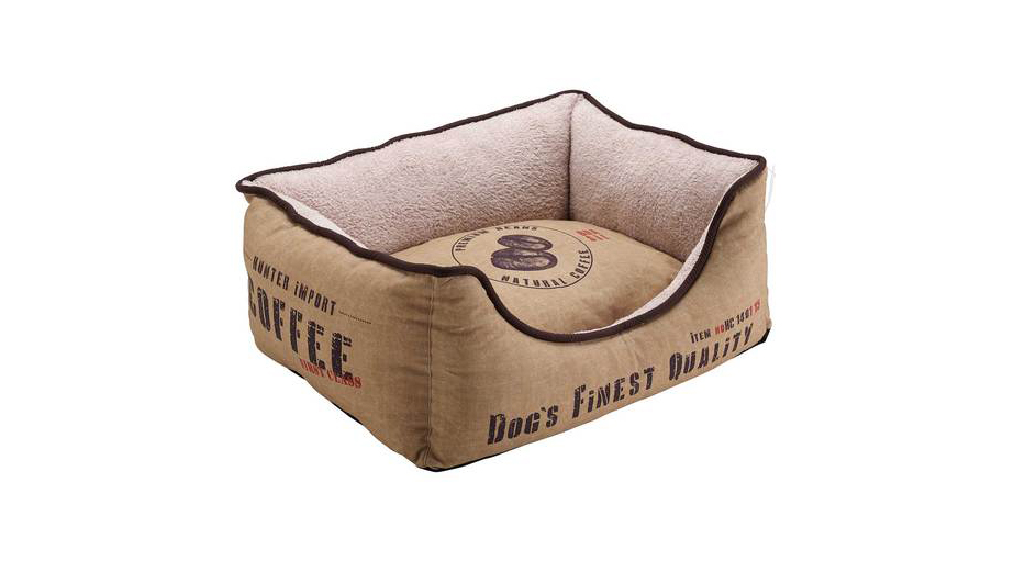 Brasilia sofa dog bed that looks like coffee sacks by Hunter