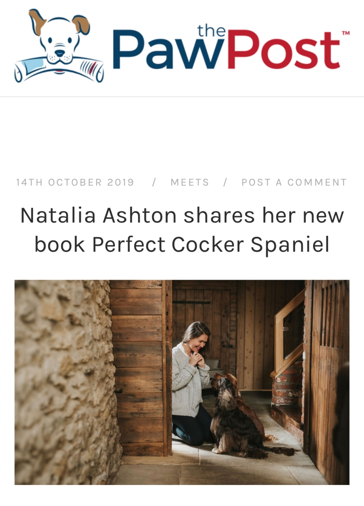 Interview about Perfect cocker spaniel book with Rachel Spencer, The Paw Post / cocker spaniel love, tips and puppy advice on dog blog (c)