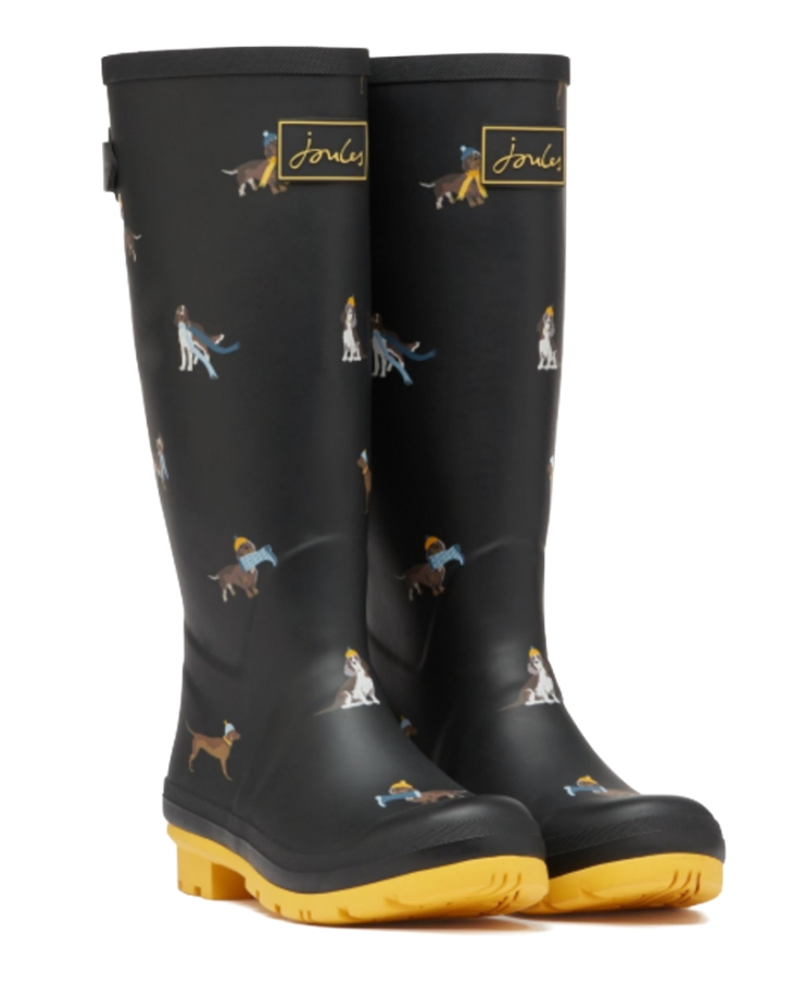 joules-dog-print-rainboots-wellingtons-pin-broch-perfect-christmas-presents-dog-lovers-guide-perfect-cocker-spaniel-blog