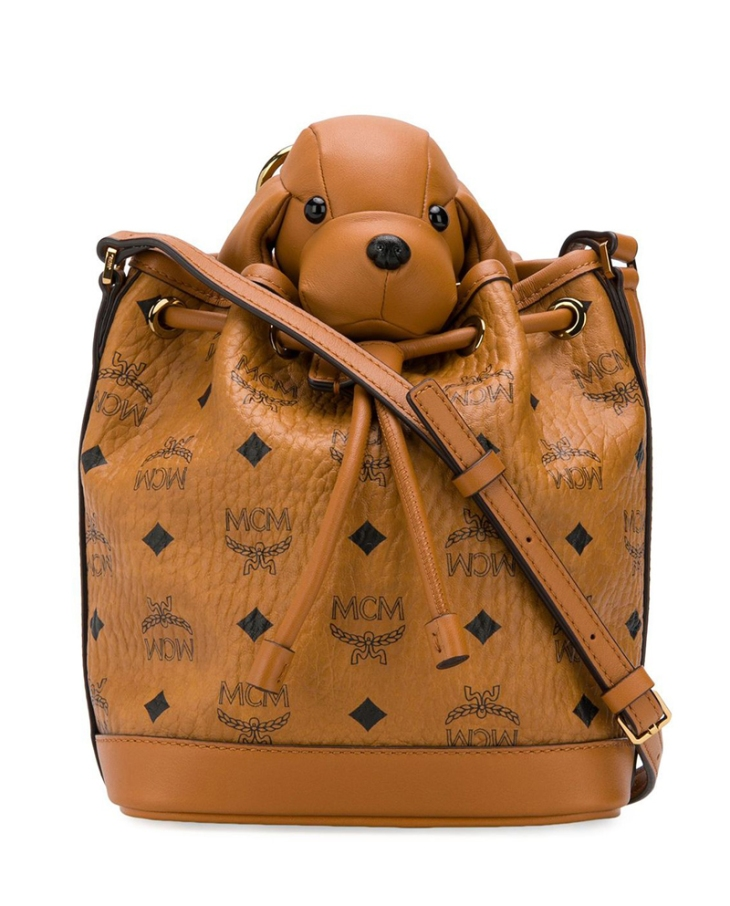 MCM-dog-tan-duffle-shoulder-bag-perfect-best-christmas-presents-dog-lovers-gift-guide-perfect-cocker-spaniel