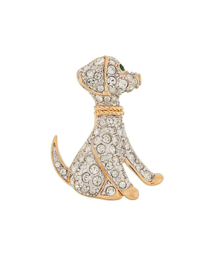 Susan Caplan crystal vintage brooch / English cocker spaniel dog blog, advice, puppy tips, grooming / (C) Natalia Ashton