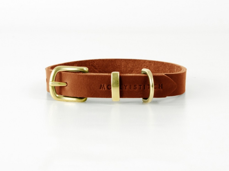 Molly & Stitch tan leather Butter collar / best christmas presents for english cocker spaniels gift guide / perfect cocker spaniel blog (C) Natalia Ashton