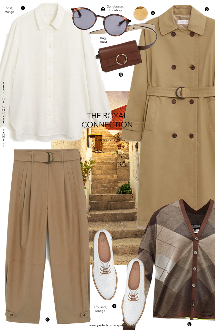 Dog walking outfit inspiration made of wardrobe essentials, timeless classic pieces / trench, brogues, belt bag, white shirt / Spring trends 2020 outfit inspiration ideas / Perfect cocker spaniel English cocker spaniel pet blog (C) Natalia Ashton